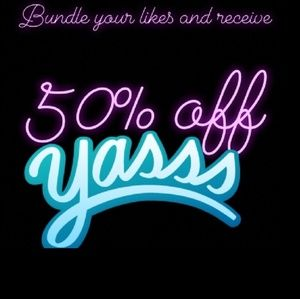 For the next 7 days, everything is 50% off!!